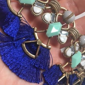 Stella Dot Lotus electric blue tassels! New